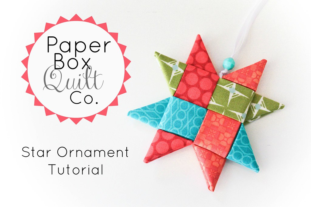Ornament Tutorial Woven Fabric Star Ornament Tutorial