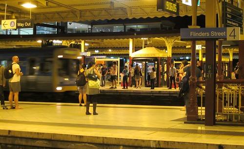 Flinders Street station, 9:06pm | by Daniel Bowen