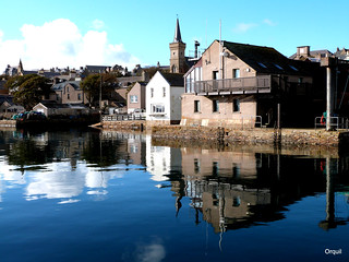 October Reflections - Stromness Harbour | by orquil