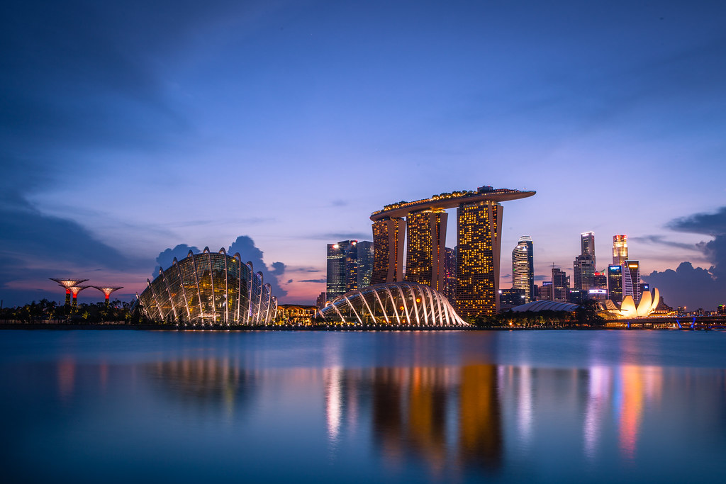 Singapore skyline view from bay east garden gardens by for 3d wallpaper for home singapore