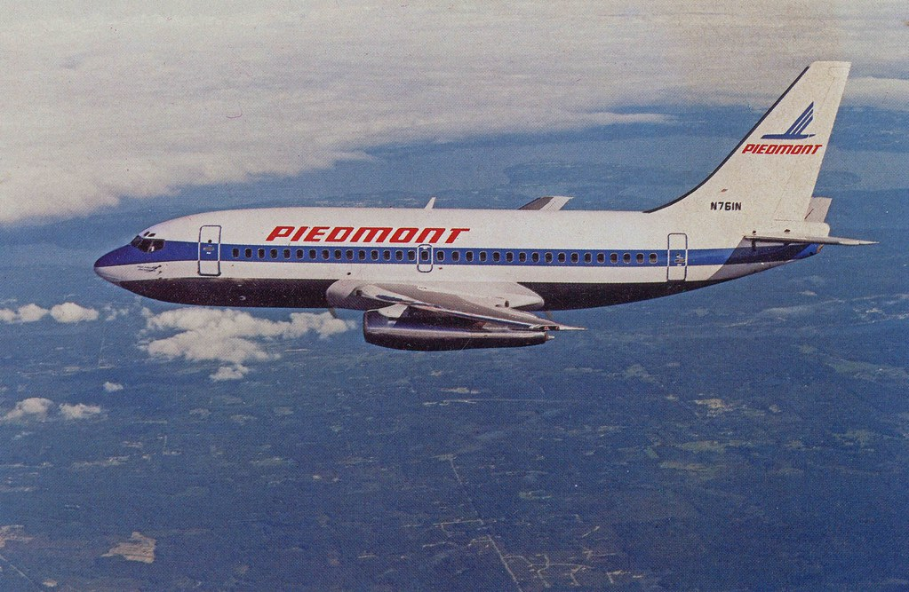 Piedmont Boeing 737 Post Card On Reverse Side Quot Piedmont