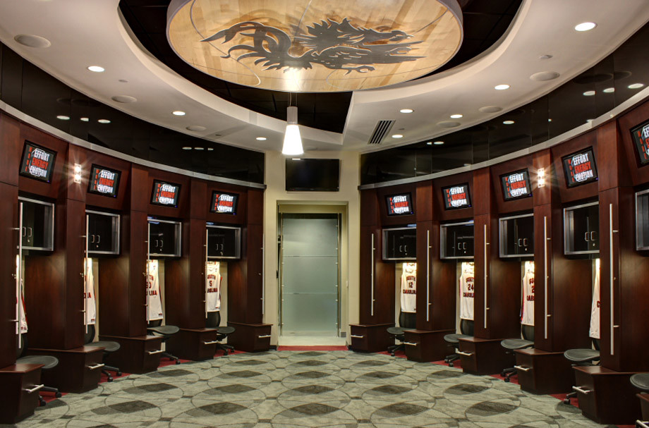 South Carolina Men's Basketball Locker Room - Colonial Lif ...