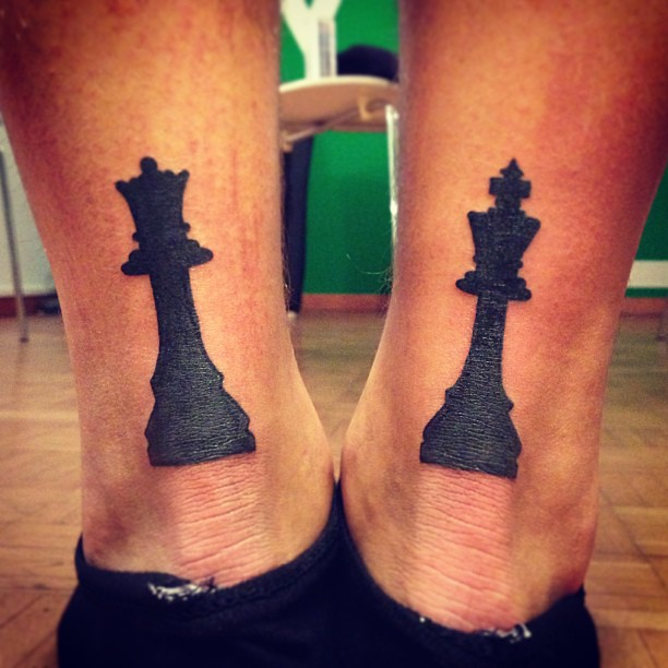 King And Queen Chess Piece Tattoo King and queen