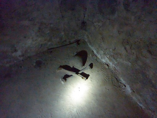 Bones in the slave tunnels