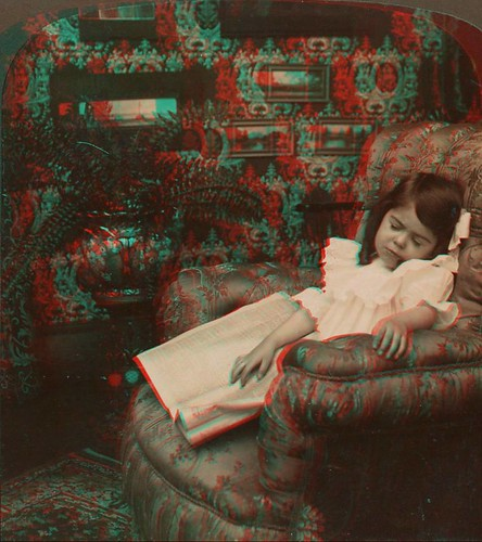 H. C. White - Fallen Asleep, anaglyph | by oldichvondich (josefnovak33´s Alter Ego)