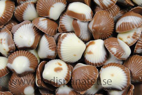 White Chocolate Shells For Wedding Cake
