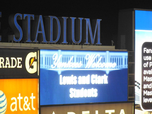 A welcome message at the Yankee Stadium 10/01/2012 | by stepan simek