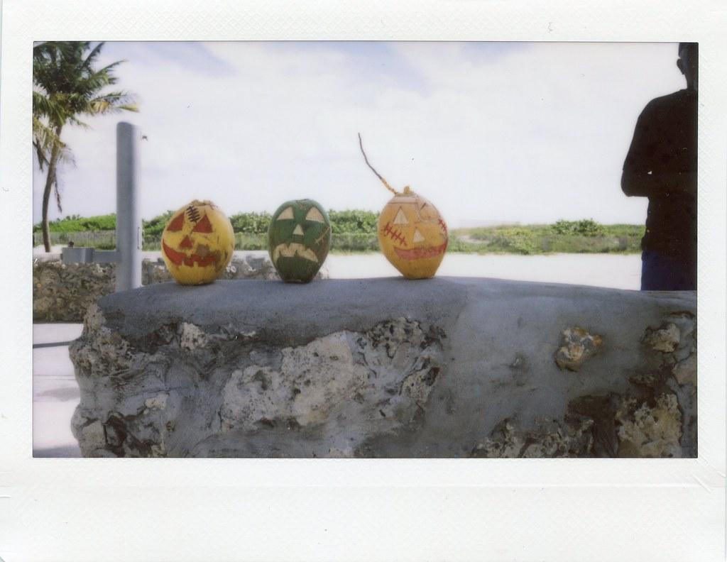 Coconut Jack O Lanterns