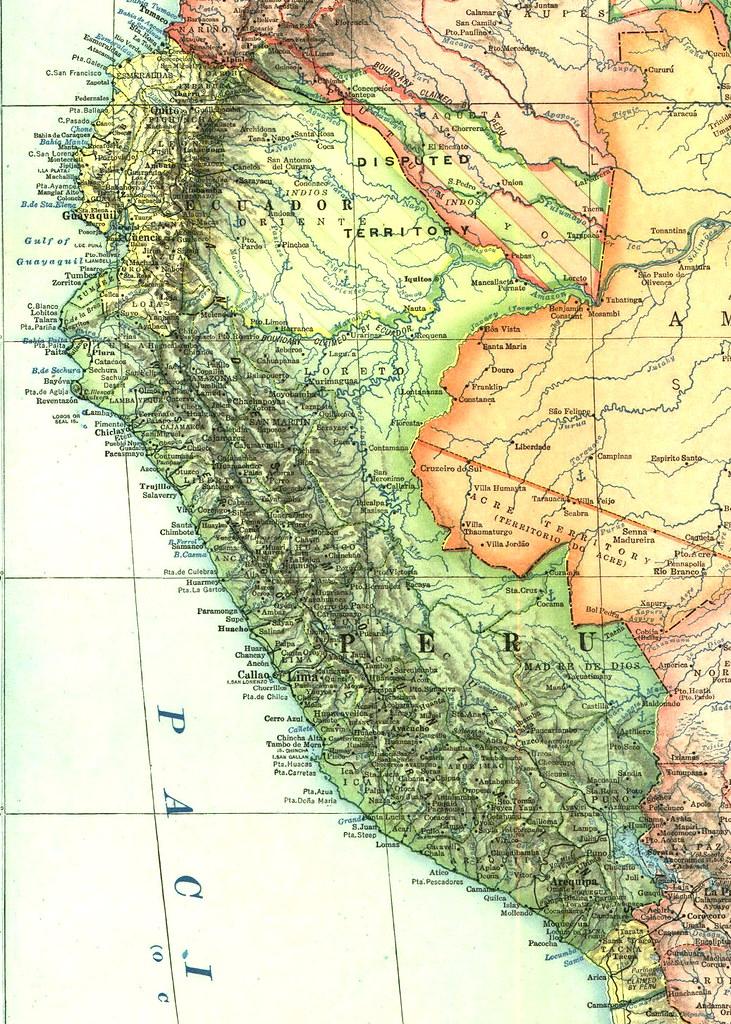 Mapa Hist 243 Rico Del Per 250 1921 Fuente National