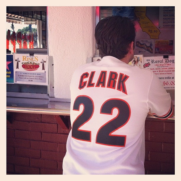 sports shoes cf392 f71ad SF Giants fan at Pink's. F this guy. #sfgiants #willclark ...