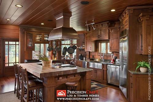 Timber Frame Kitchen Precisioncraft Log Amp Timber Homes