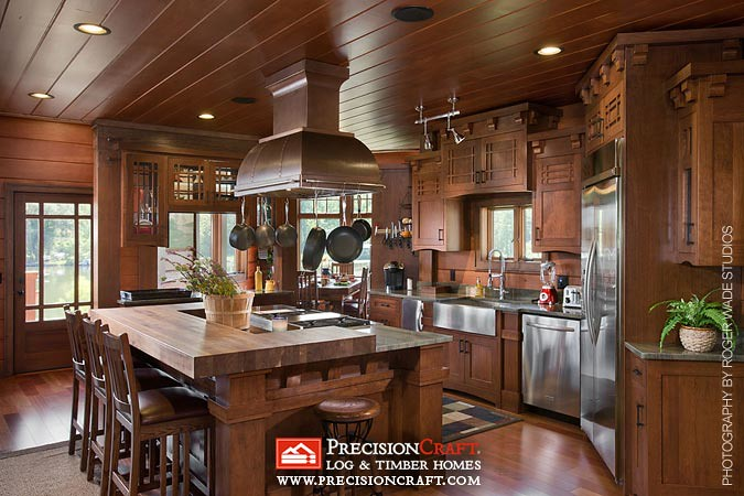 Timber Frame Kitchen Precisioncraft Log Timber Homes