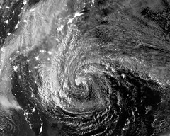 Hurricane Sandy Viewed in the Dark of Night