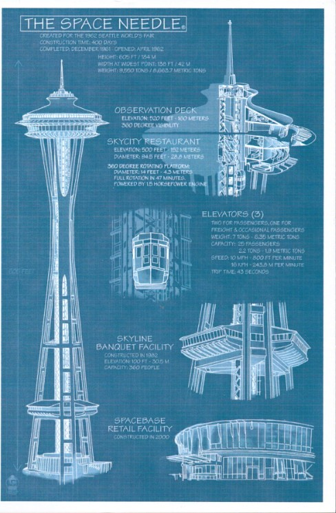 Wa Seattle Space Needle Blueprint X Xchokex X Flickr
