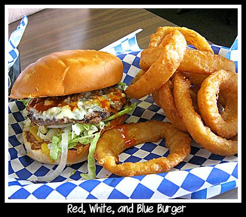 red, white, and blue burger | Red, White. and blue Burger wi ...