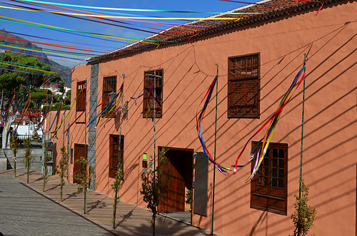 Garachico dressed up for August fiestas, Tenerife