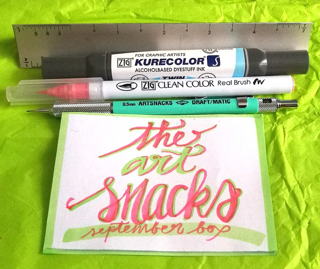 Art Snacks september box