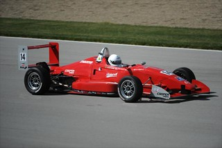 Danilo Estrela during his test session at IMS | by indianapolismotorspeedway.com