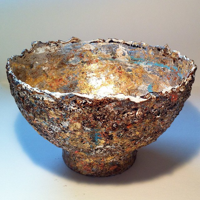 Paper mache bowl flickr photo sharing for Things to make with paper mache