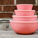 Pink Pyrex Bowl Set