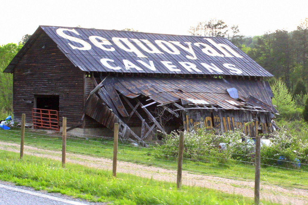 Car Part Pro >> Sequoyah Caverns Barn | Clark Byers is the man who painted a… | Flickr