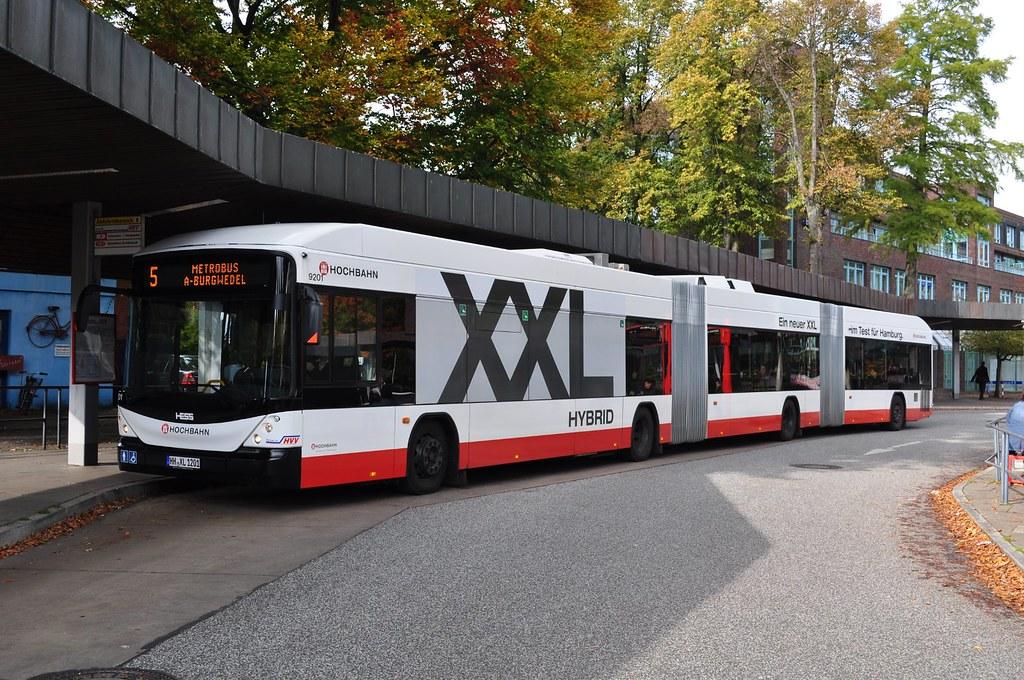 hess xxl in hamburg rijdt een dubbelgelede hybride bus van flickr. Black Bedroom Furniture Sets. Home Design Ideas