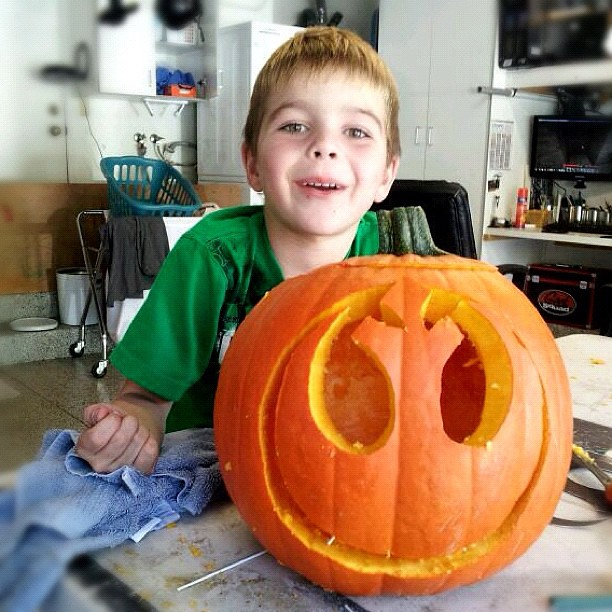 Pumpkin Carving Earlier Today Star Wars Themed Quot Rebel All