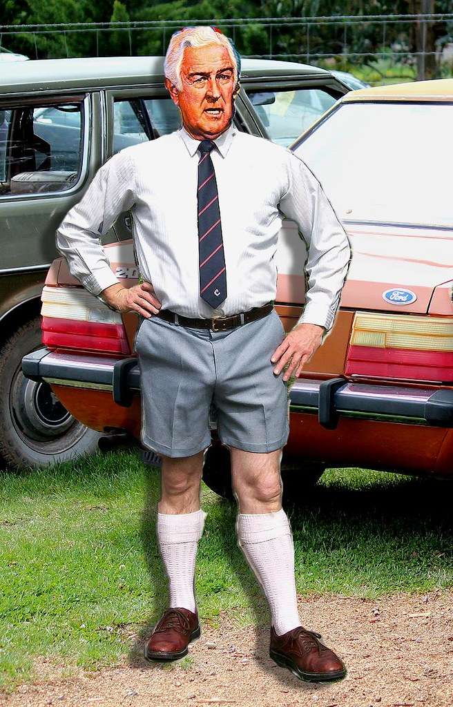 gents polyester walk shorts being worn with walk socks 1