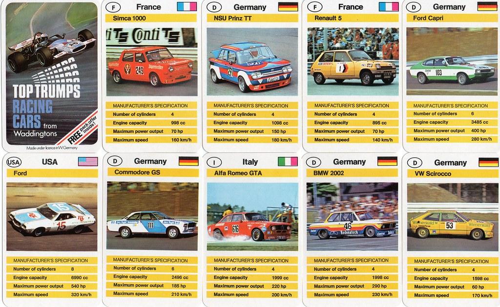 Top Trumps Racing Cars Alan Gold Flickr - Sports cars top trumps