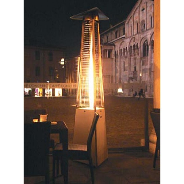 Attirant ... Premium Residential Pyramid Glass Tube Flame Patio Heater   Hammered  Bronze | By Buytikitorches