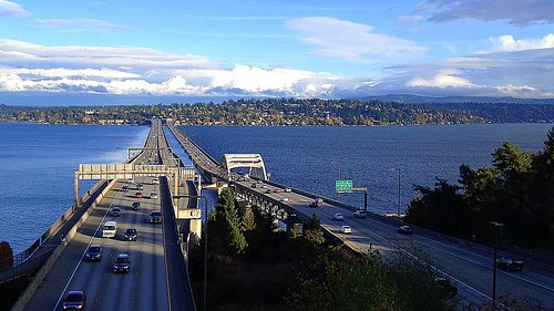 From the East Portal View Point:  Interstate 90 Looking East Across Lake Washington | by JoeInSouthernCA
