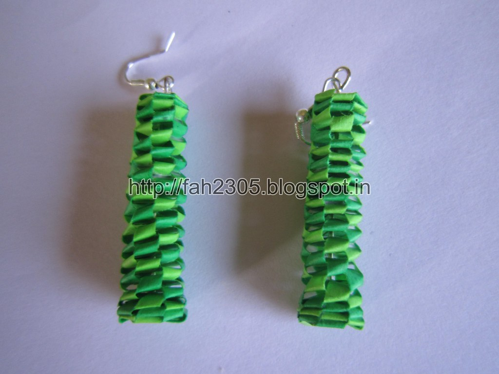 how to make handmade paper earrings