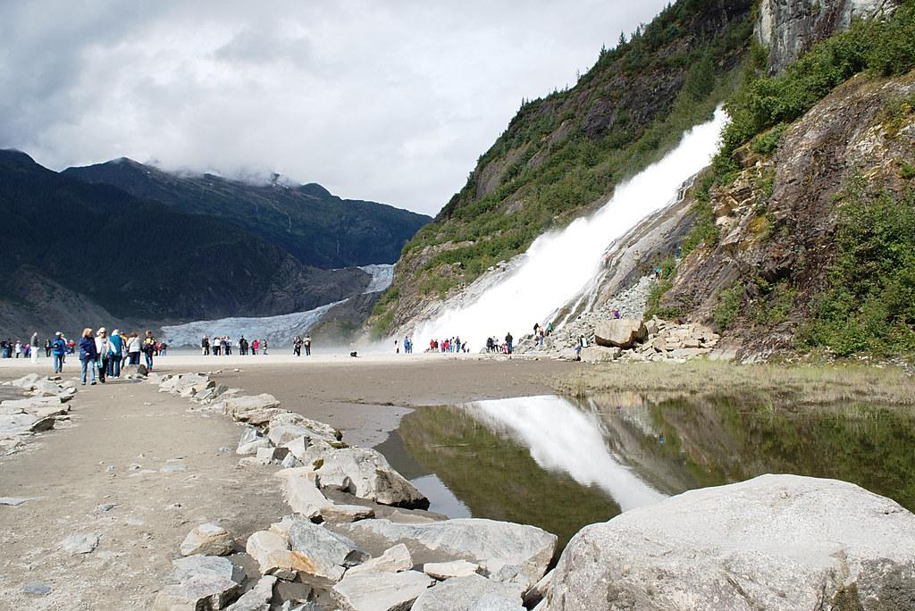 Mendenhall Glacier and Nugget Falls (Juneau, Alaska)