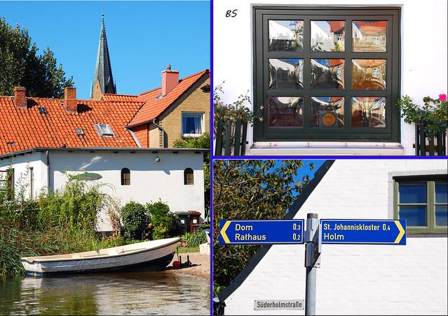 Schleswig - Fischerviertel Holm - Ostseefjord Schlei - pittoreske Fischersiedlung - Fotos und Collagen: Brigitte Stolle 2016