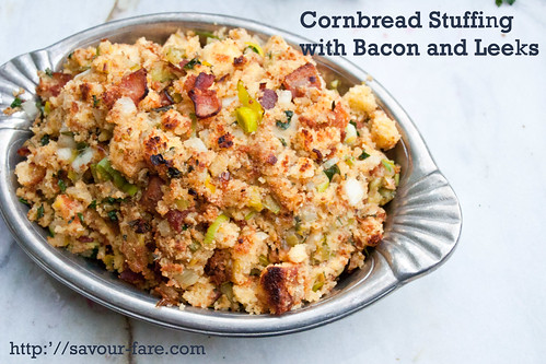 Crockpot Cornbread Stuffing with Bacon And Leeks #Thanksgiving | by The Domestic Front