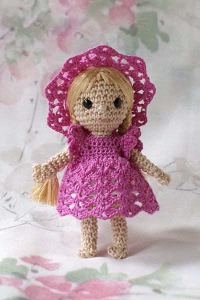 Mini crochet doll Crocheted from DMC no 5 and crochet hook ...