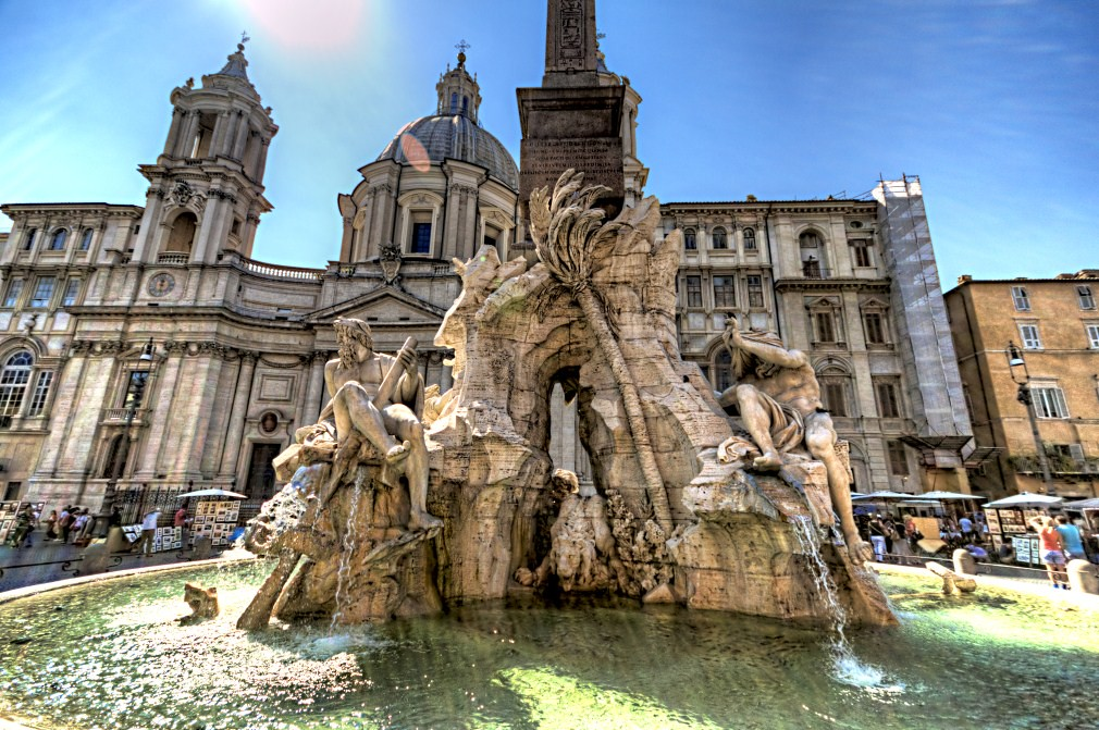 Bernini S Fontana Dei Quattro Fiumi Fountain Of Four Rive