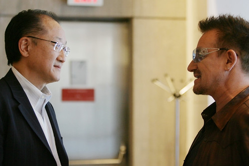 Bono and World Bank President Jim Kim Talk Next Steps to End Poverty | by World Bank Photo Collection