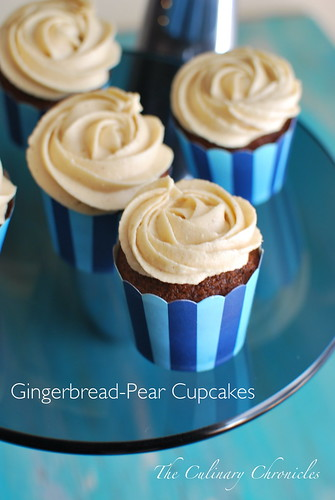 Gingerbread-Pear Cupcakes with Spiced Cream Cheese Frostin ...