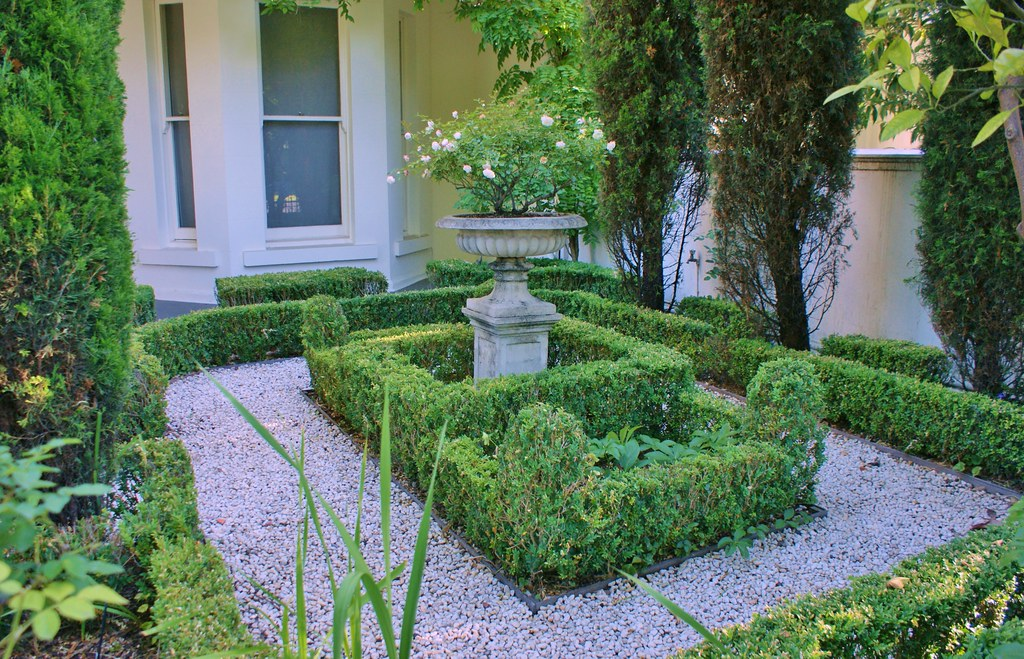 small formal front garden