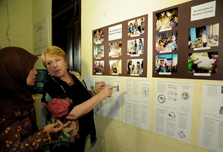 UN Women Executive Director Michelle Bachelet visits the Penjaringan Community in North Jakarta | by UN Women Gallery