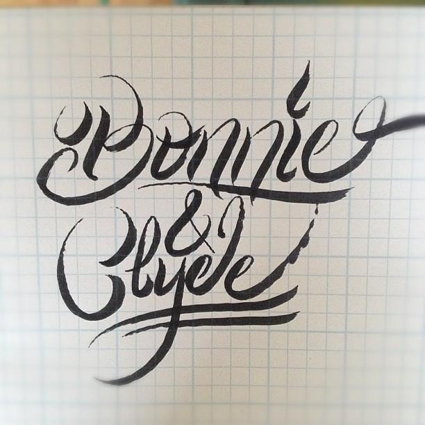Bonnie Amp Clyde Lettering Brushpen Handlettering Dcpdes Flickr