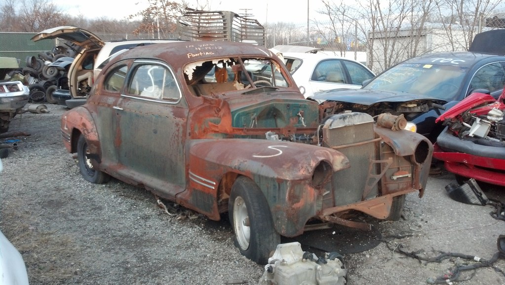 old car at crazy rays junk yard in baltimore city | this is … | Flickr