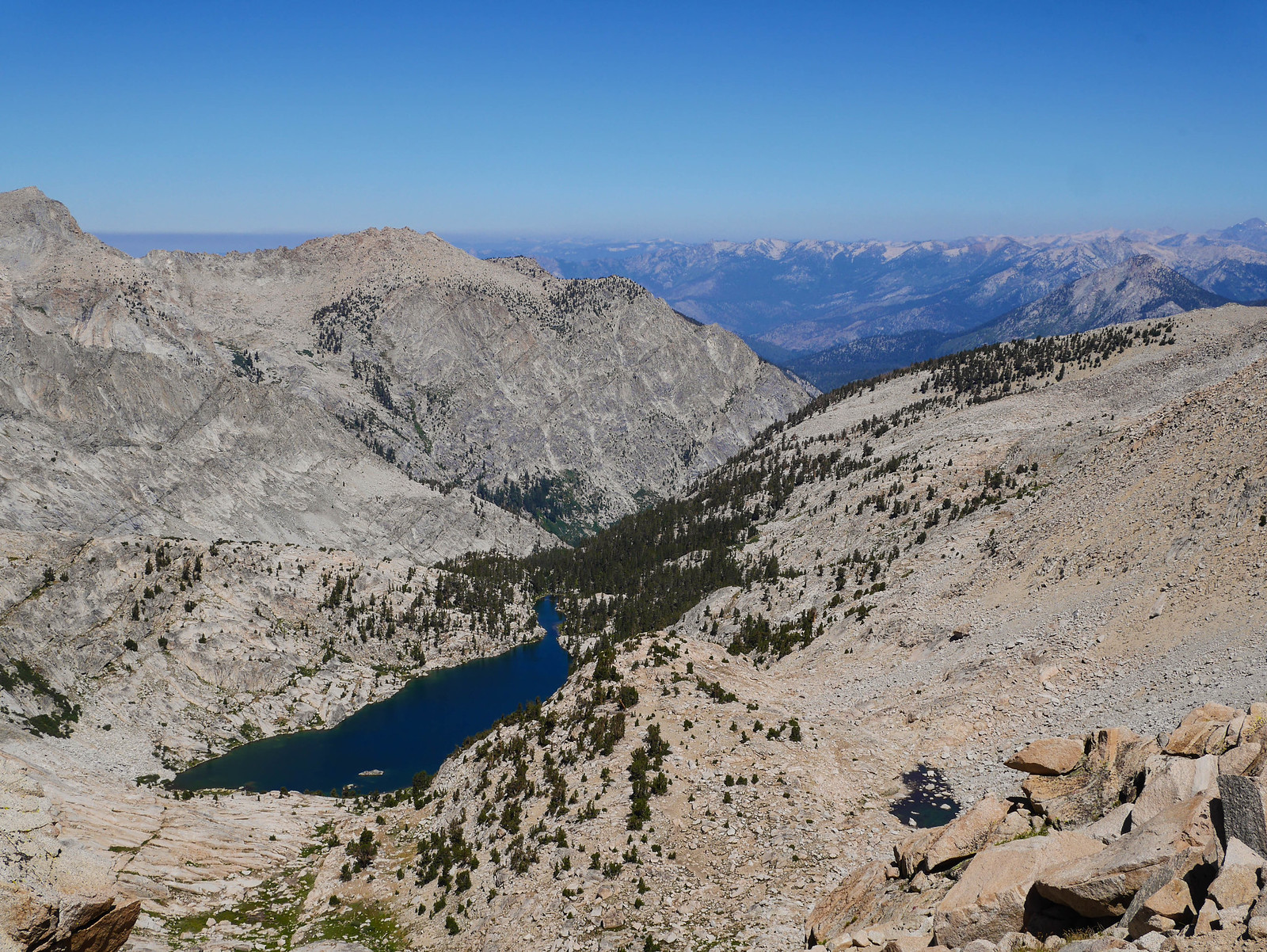 Colby Lake and the Great Western Divide from Colby Pass