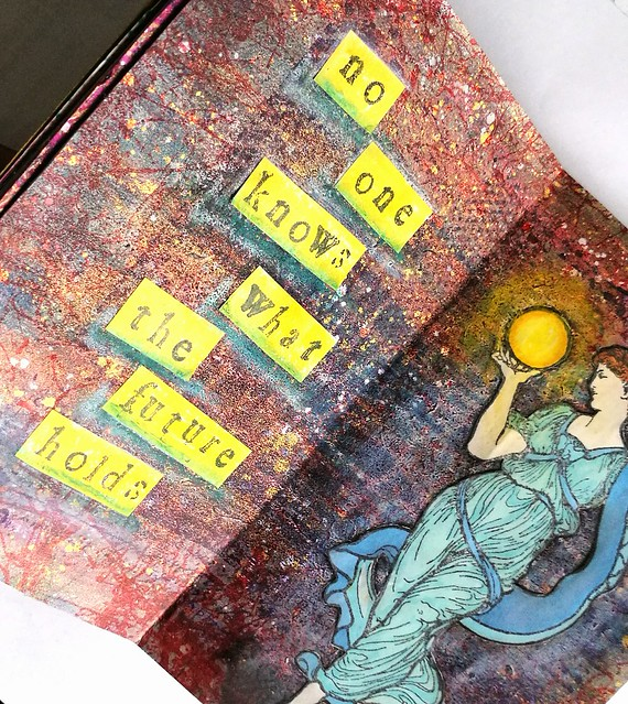 Mini Art Journal Fortune Teller