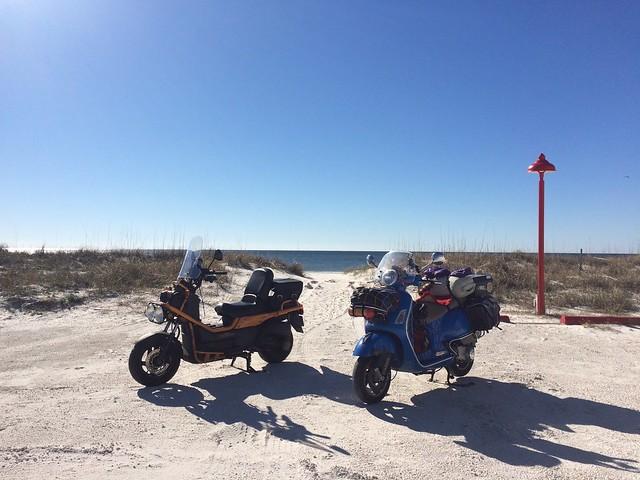 Austin to Vegas on Two Vespas. Part 1. February 4-9, 2016.