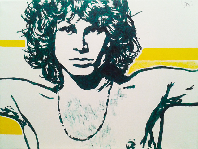 Go Back  gt  Gallery For  gt  Jim Morrison The Doors StencilThe Doors Stencil