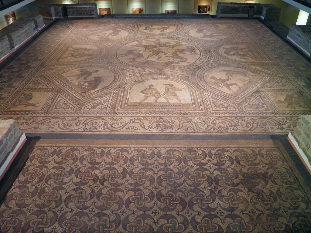 Gladiator mosaic floor 3rd century ad rmerhalle bad kr flickr gladiator mosaic floor 3rd century ad rmerhalle bad kreuznach germany by dailygadgetfo Gallery