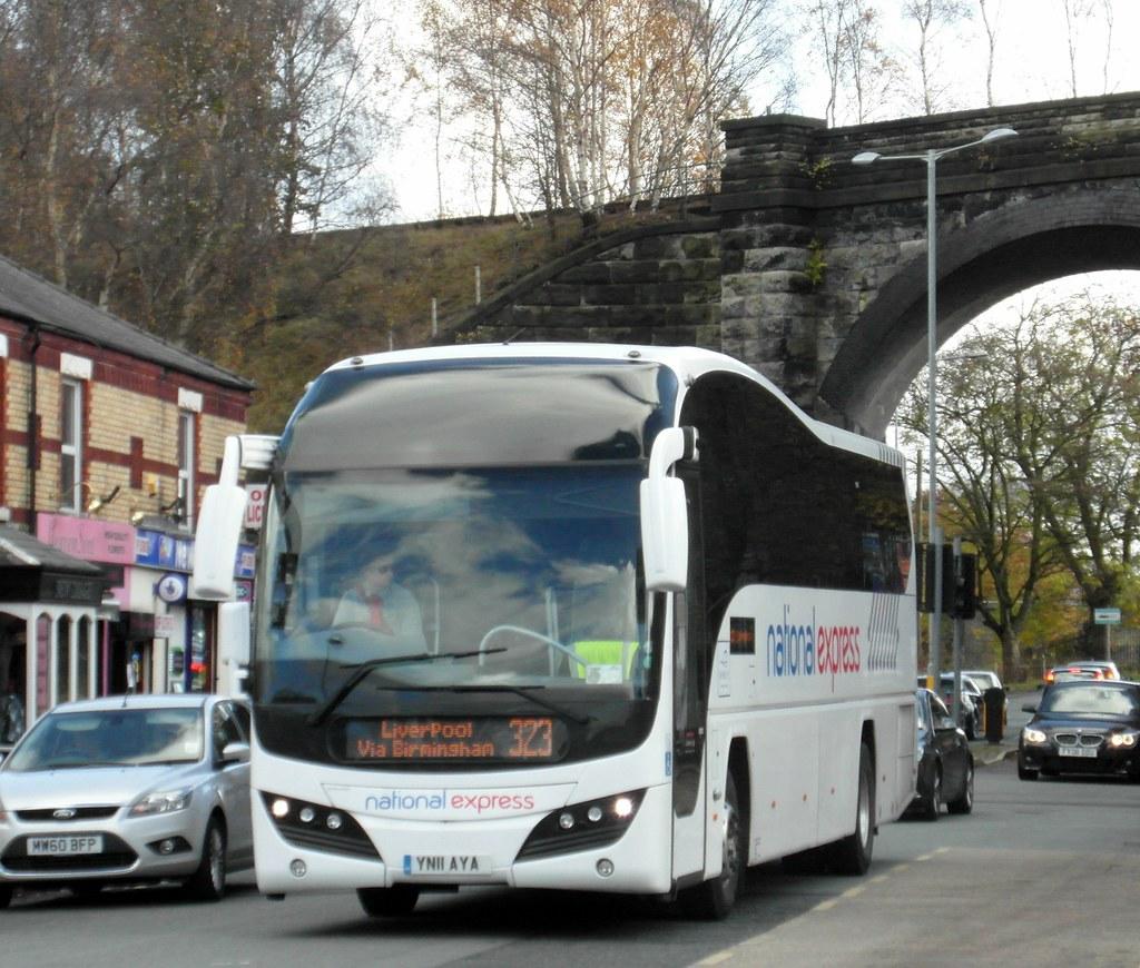 Sellwyns National Express Plaxton Elite Volvo B12 Yn11