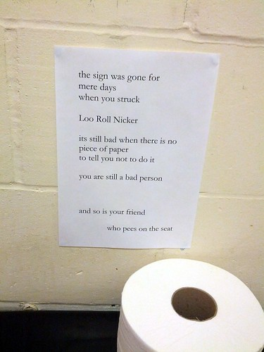 Free Verse Poem About Loo Roll Theft Toilet The Office